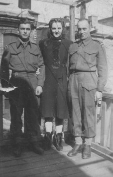 Mr. Dufresne, in Québec city, in 1941. He is on the left.
