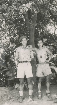 Private Ed Lee (right) and a comrade at Meerut, India, 1945.