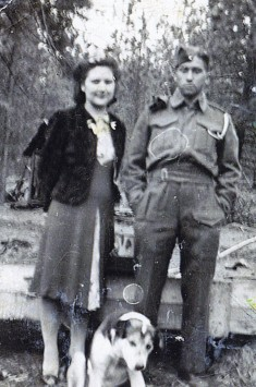 John Marchand and his sister Florence, embarkation leave, 1942.