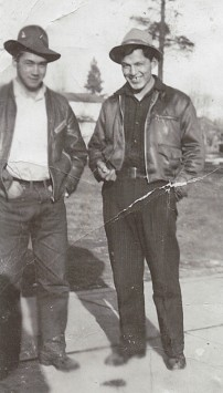 John Marchand and his friend Stan Mitchell before they joined the army, Summer 1940.