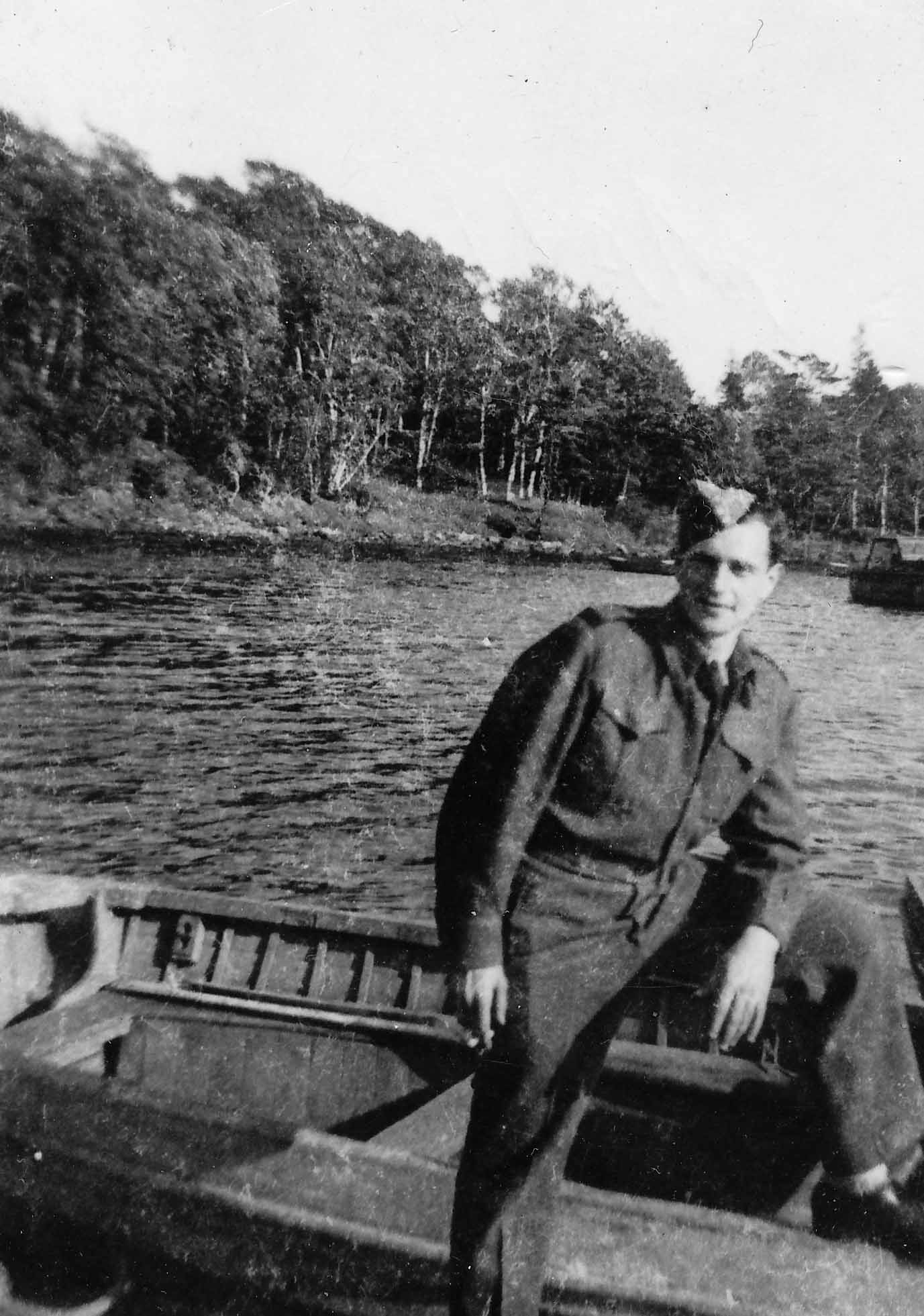 Murray Kirsh pictured in Charlottetown, P.E.I in May 1944.