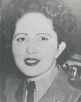 Nellie Rettenbacher in CWAC uniform.