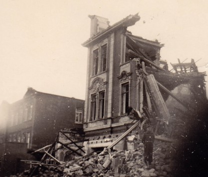 Ruins of Oldenburg, Germany, 1945.
