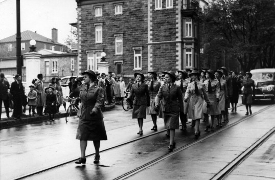 A Canadian Women's Army Corps parade.