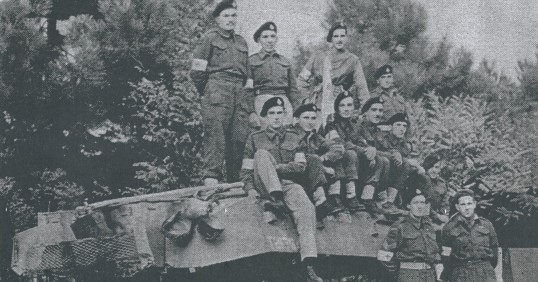 This tank was used by drivers in the medical corps to pick up the wounded during the Italian campaign
