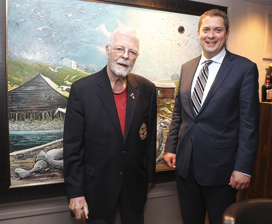 John Crosbie and Andrew Scheer