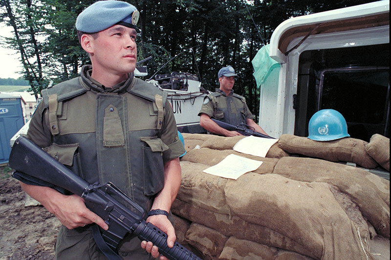 Canadian Peacekeepers in the Balkans
