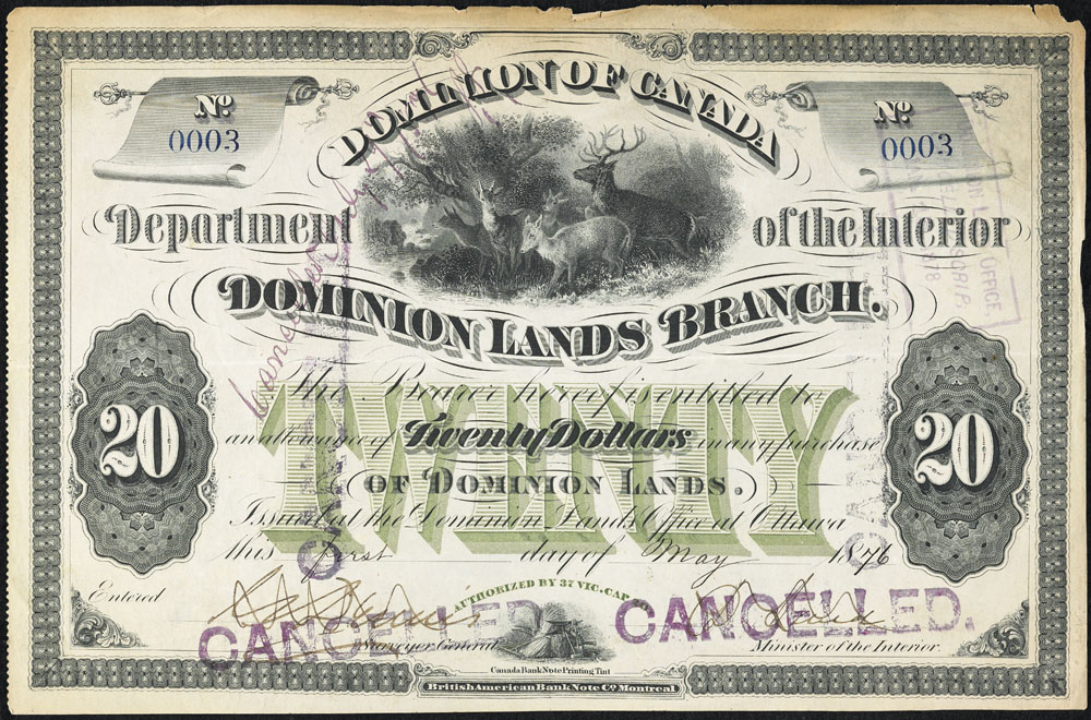 Métis land scrip