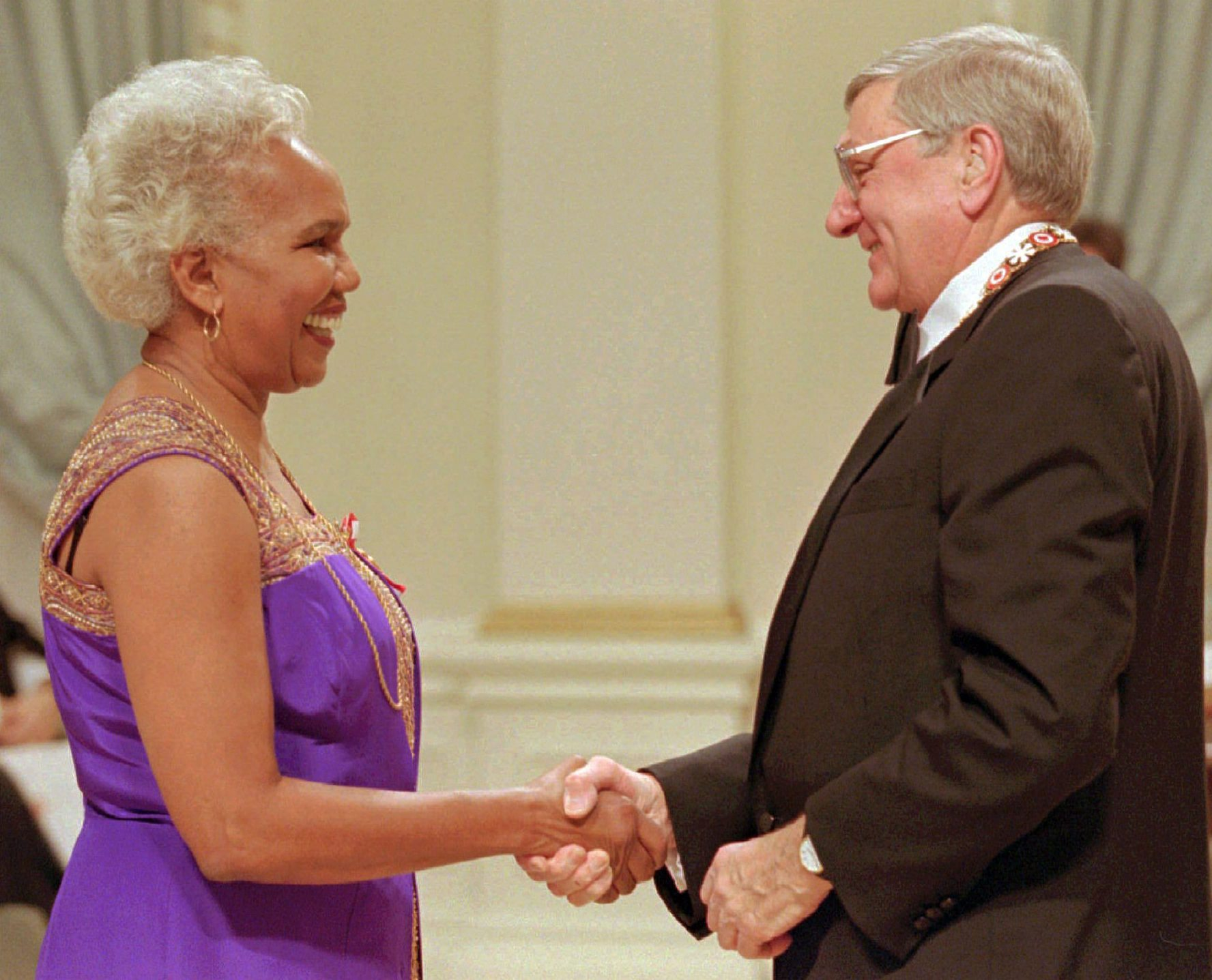 Rosemary Brown receiving the Order of Canada.