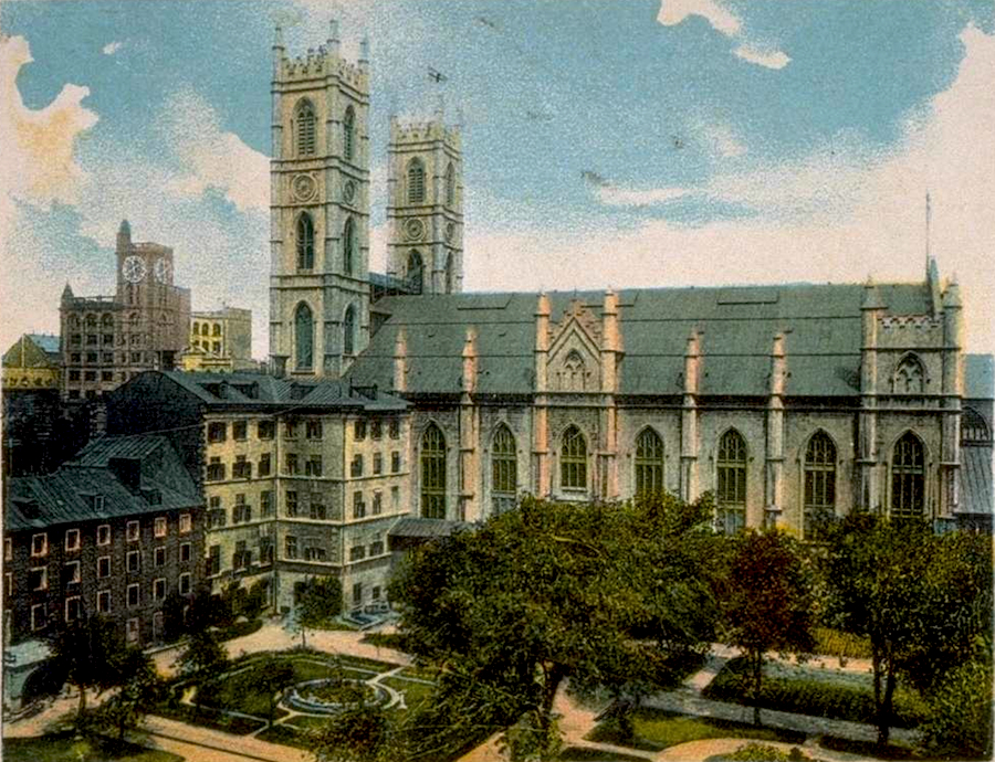 Notre-Dame Church (Basilica) in early 20th Century