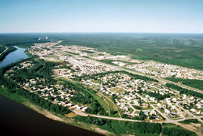 Hay River, Aerial view
