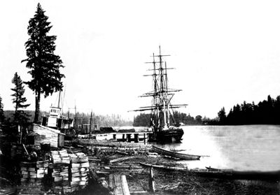 Sailing Ship, New Westminster
