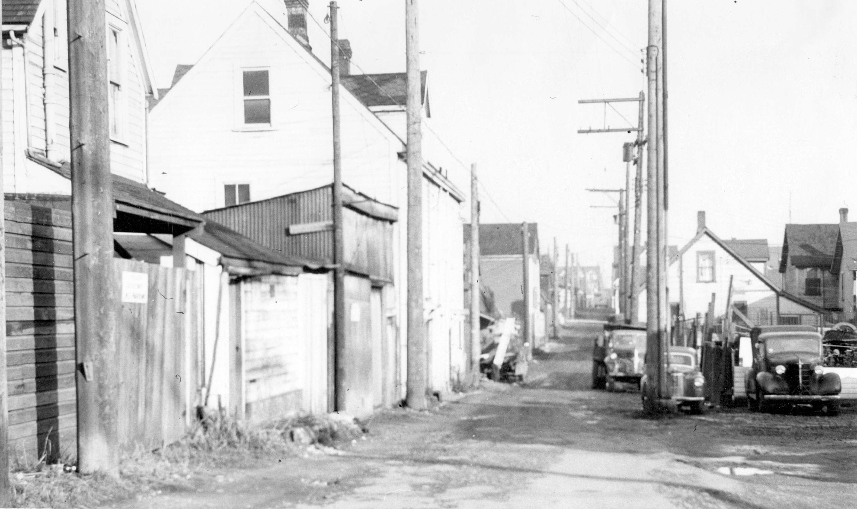 Section d'Hogan's Alley, avril 1958, Vancouver (Colombie-Britannique).