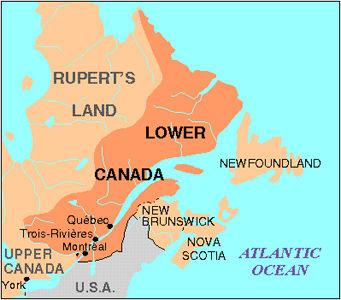 Lower Canada, Map