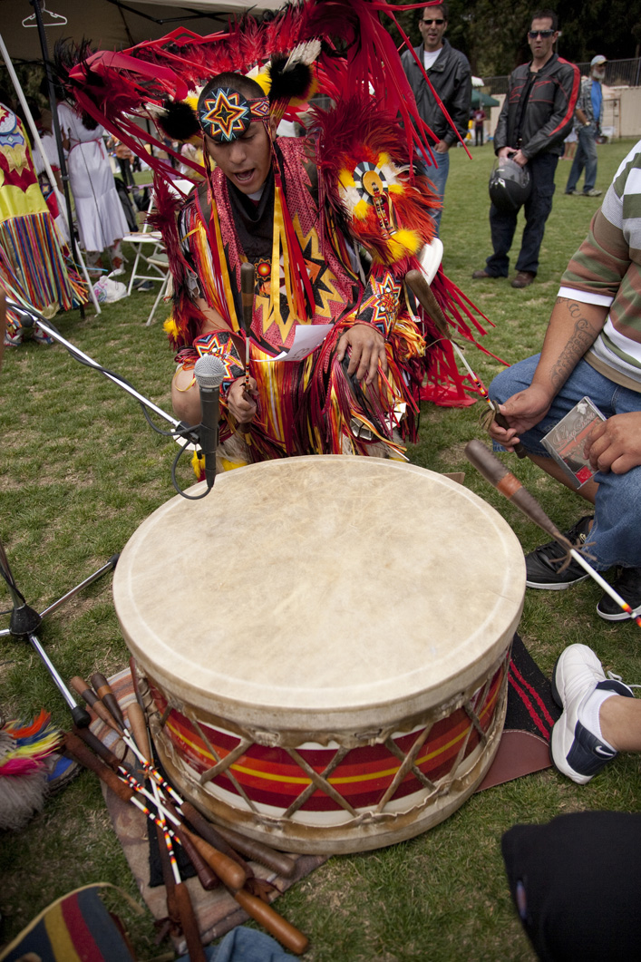 Drumming at Powwow