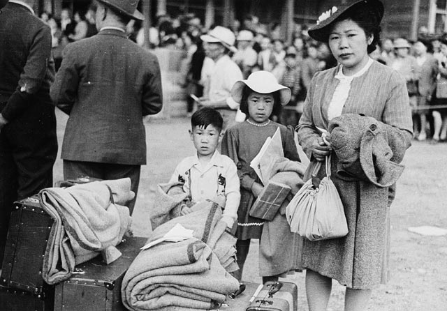 Japanese Canadians Being Relocated in BC, 1942