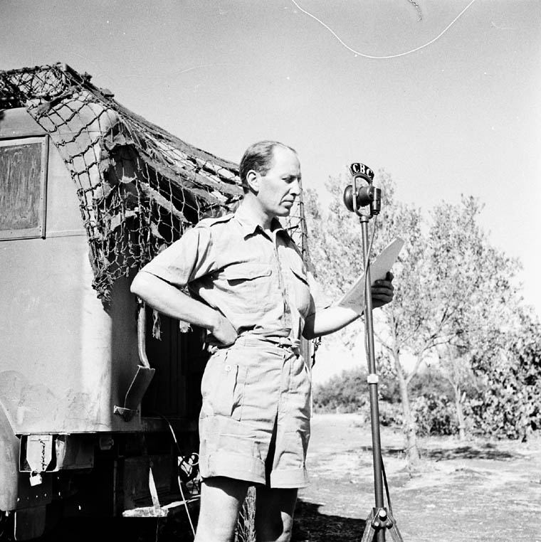 Matthew Halton, reporting for CBC during WWII.