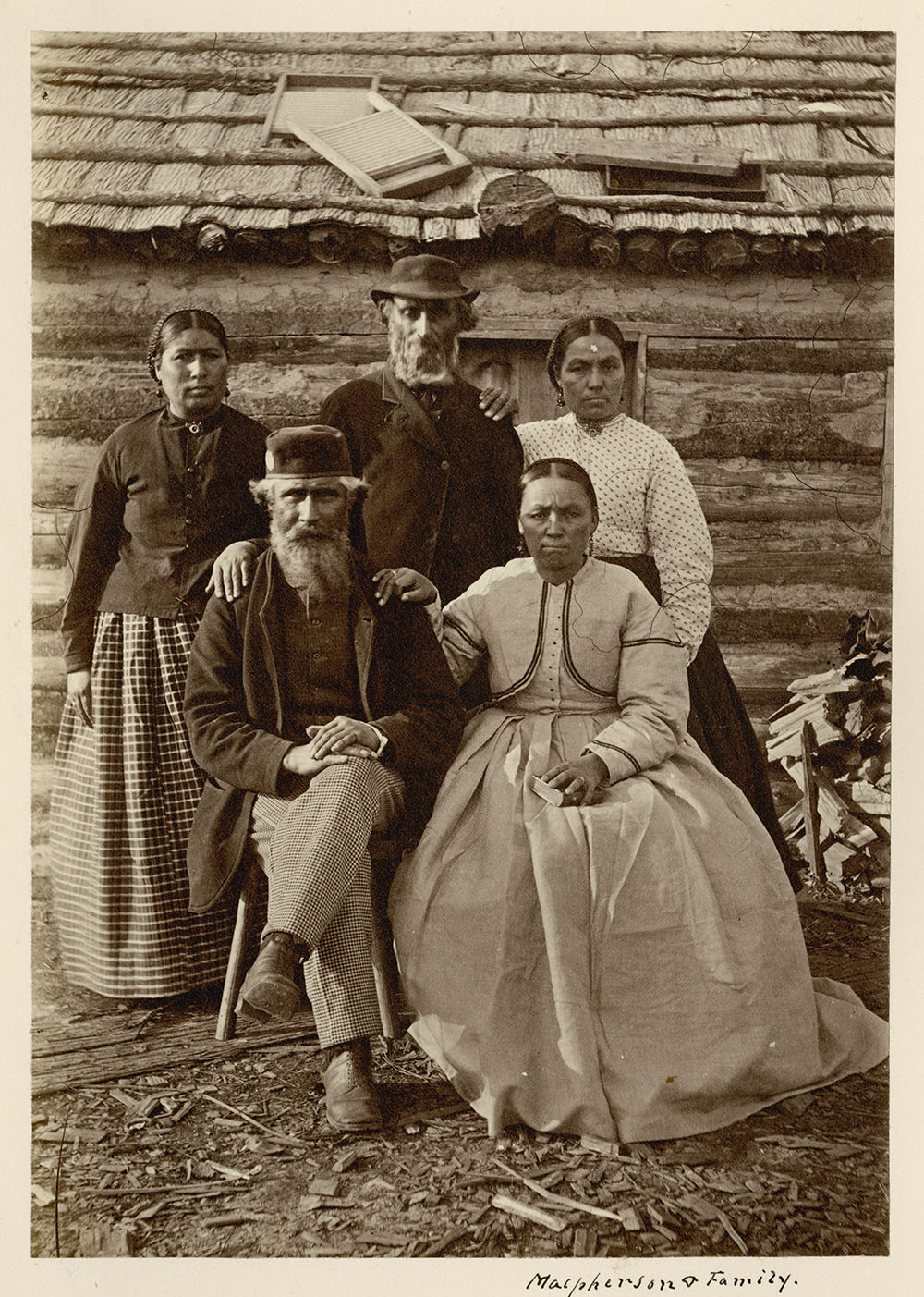 George McPherson and his family, Northwest Angle, Lake of the Woods (present-day Ontario)