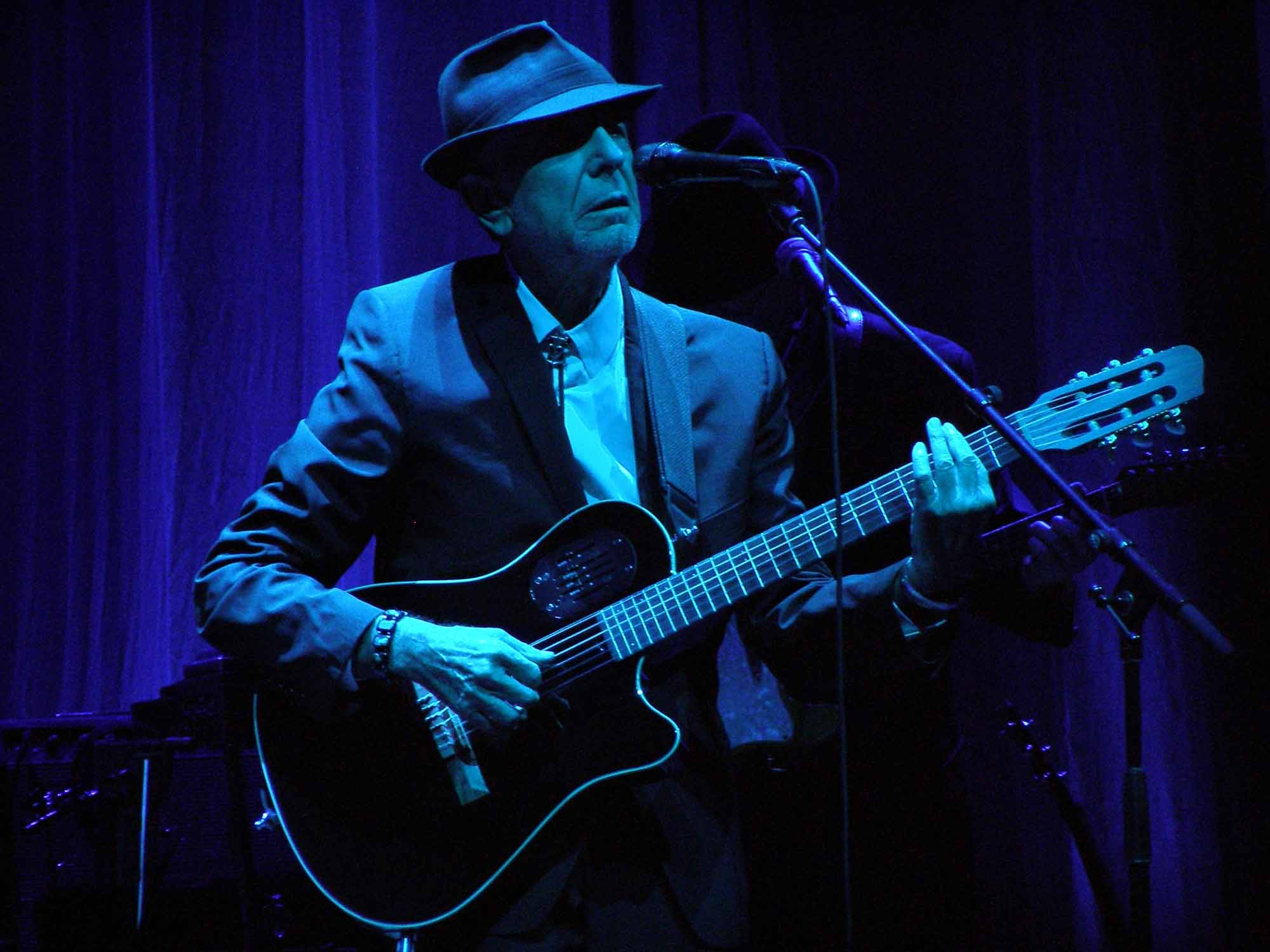 Leonard Cohen performs in Florence