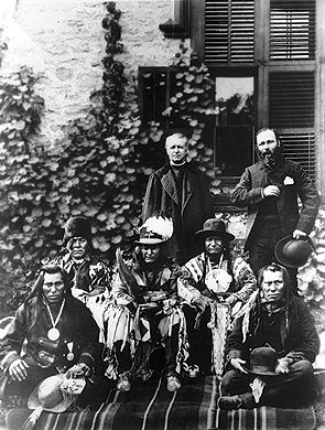 Albert Lacombe with Native Leaders