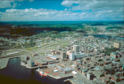 Saint John from the Air