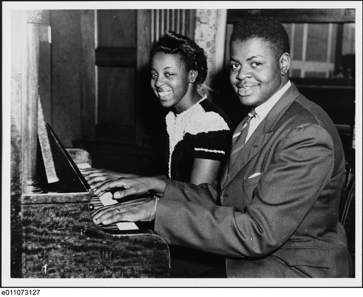 Oscar Peterson with his sister, Daisy