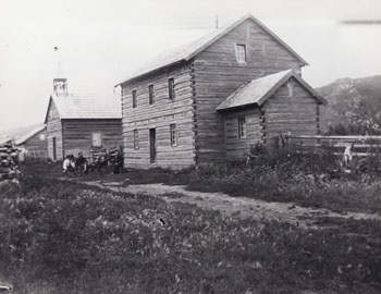 Roman Catholic Mission, Fort Dunvegan, Alberta, 1899