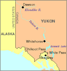 Klondike Gold Rush, Map