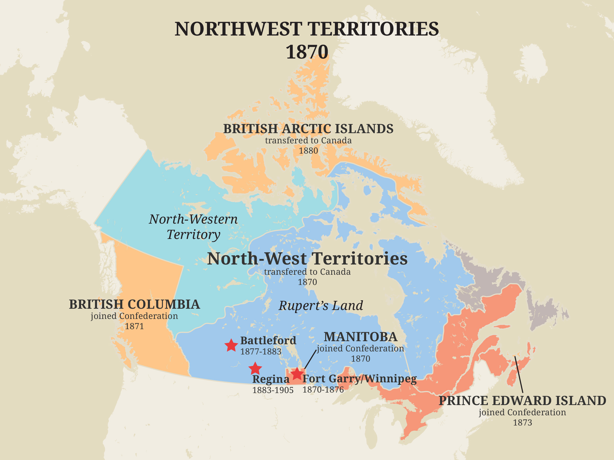 North-West Territories, 1870