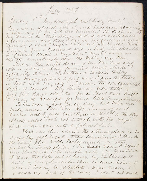 Diary of Lady Macdonald, 5 July 1867