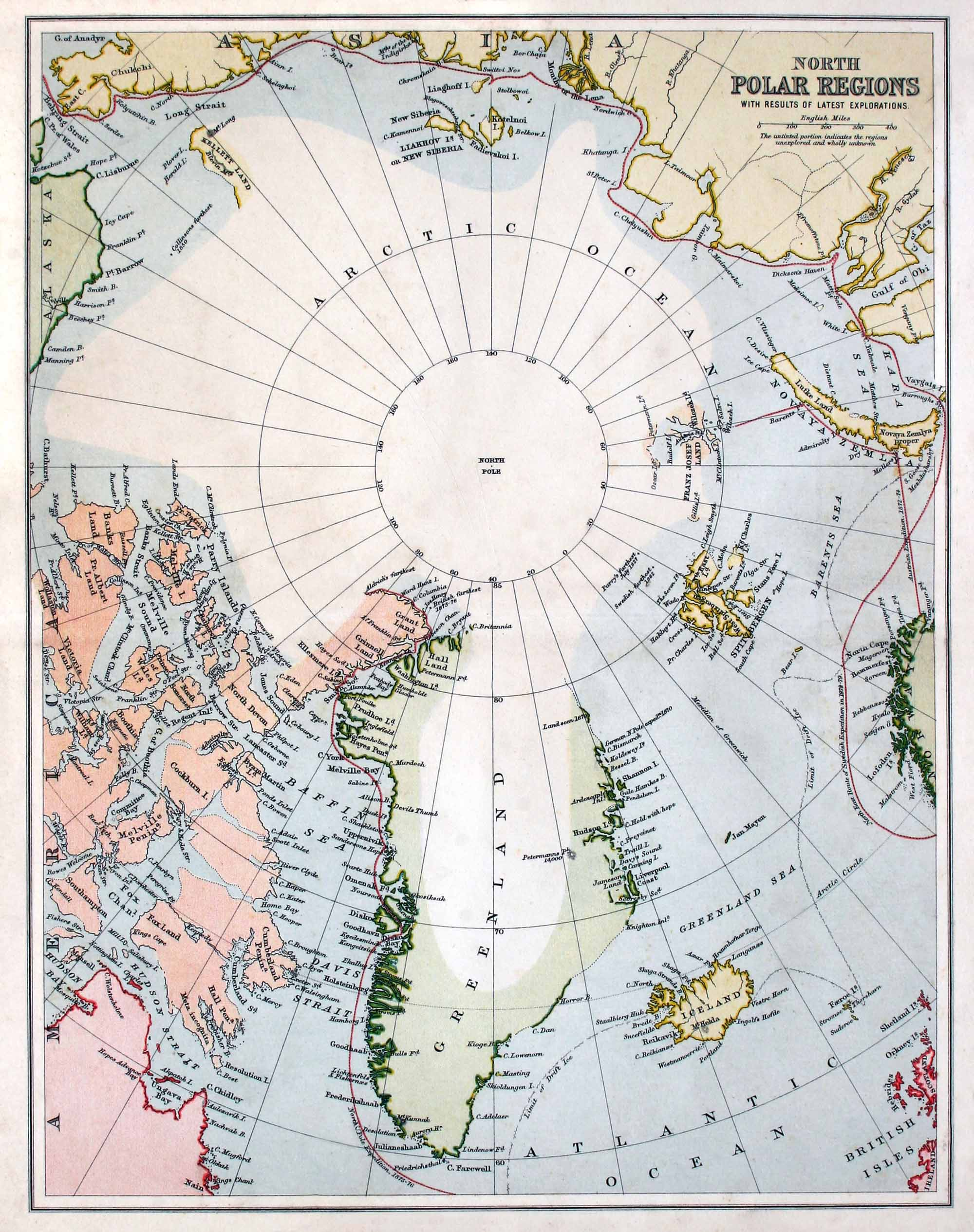 Early Map of the North Pole Region