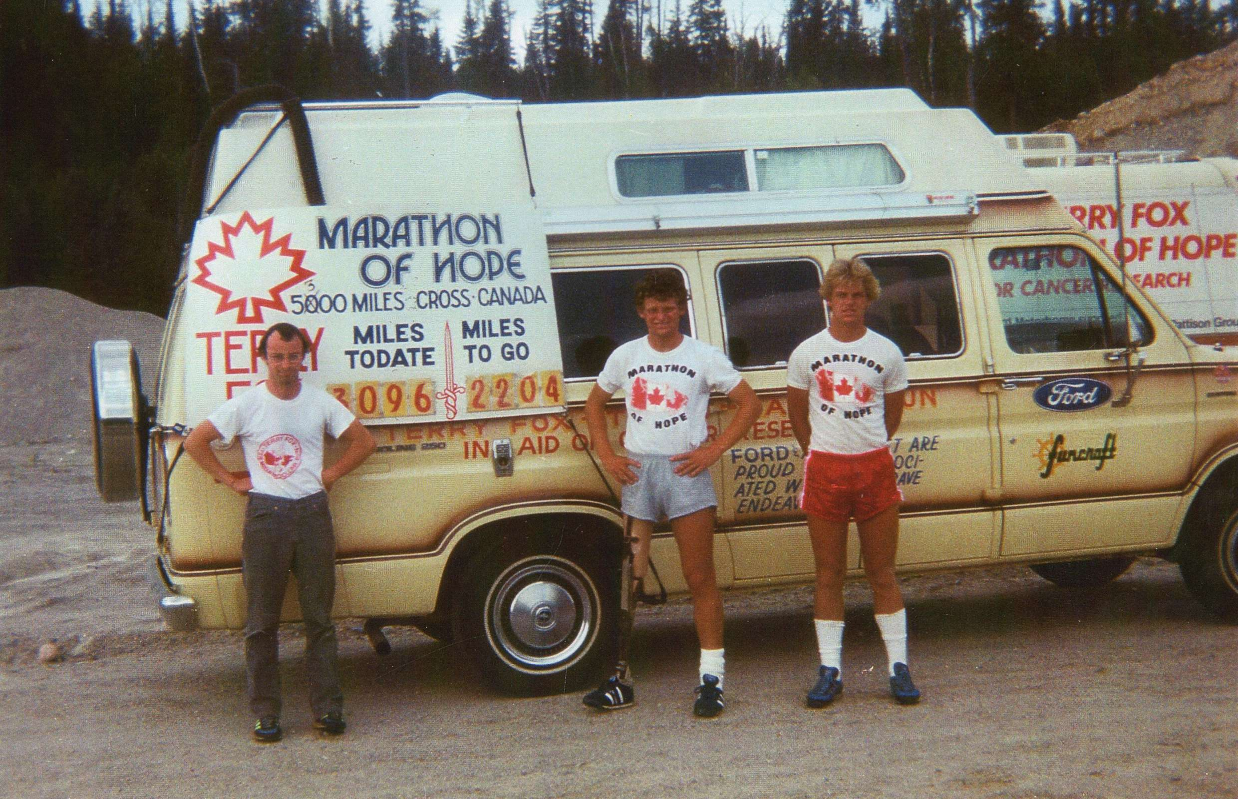 Terry Fox and the Team