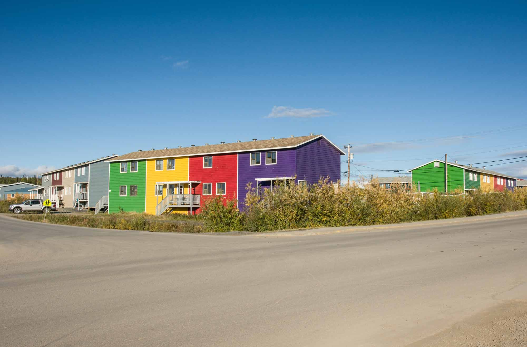 Des appartements colorés à Inuvik
