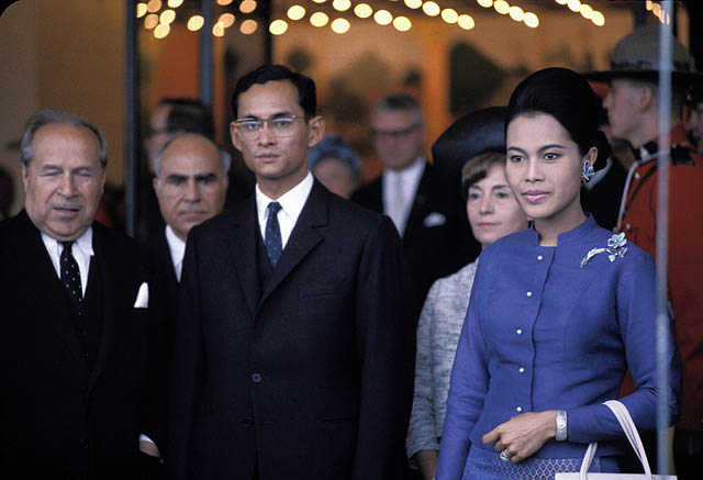 King of Thailand Bhumibol Adulyadej at Expo 67