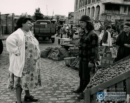 Ginette Reno (left) and Lauzon on set of Léolo
