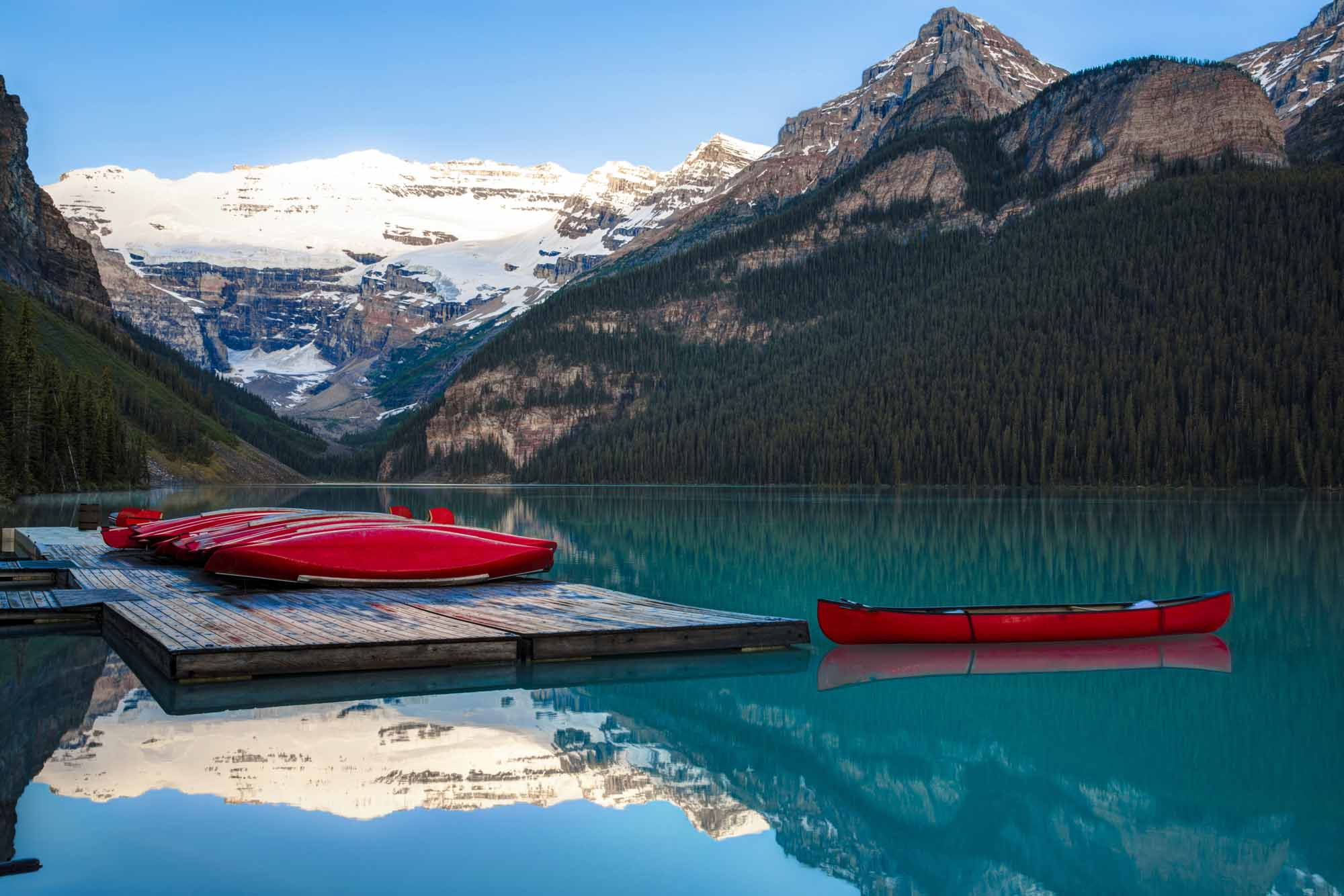 Canoes at Banff National Park