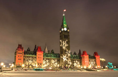 Christmas, Parliament Hill