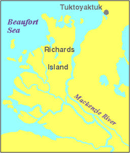 Mackenzie Delta, Map