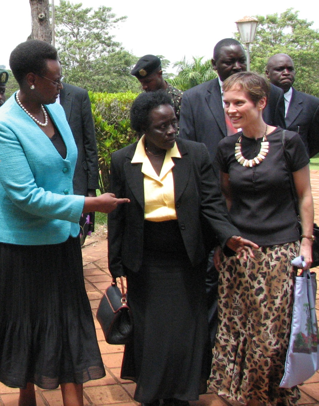 Dr Jean Chamberlain-Froese with First Lady of Uganda