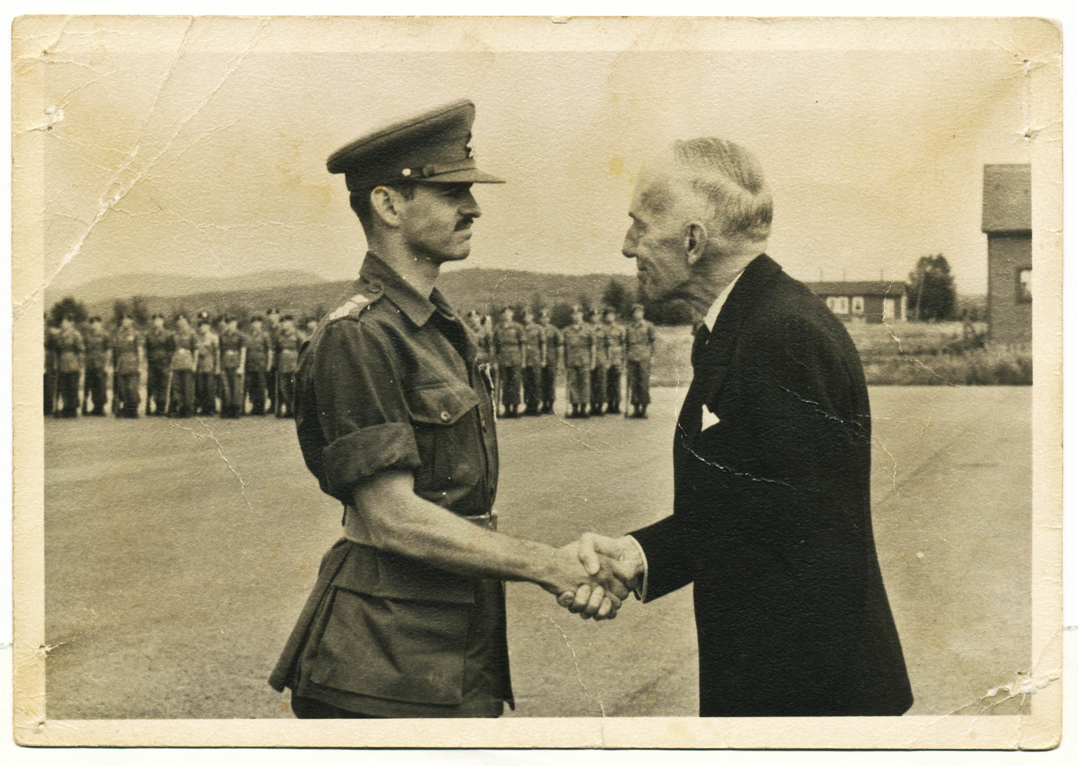 André Therrien with Vincent Massey, Governor General of Canada.