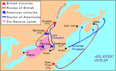 Map Of New York During American Revolution.American Revolution Invasion Of Canada The Canadian Encyclopedia