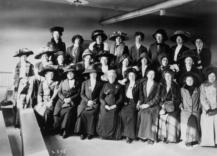 Immigrants to Quebec, to work in the domestic service industry, ca. 1911.