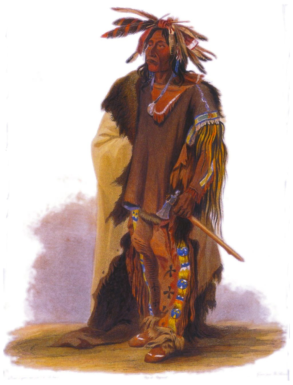 Illustration of a Dakota Warrior