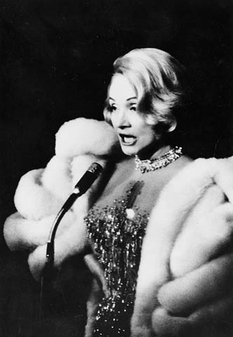Marlene Dietrich performing at Expo