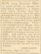 Fugitive Slave Advertisement