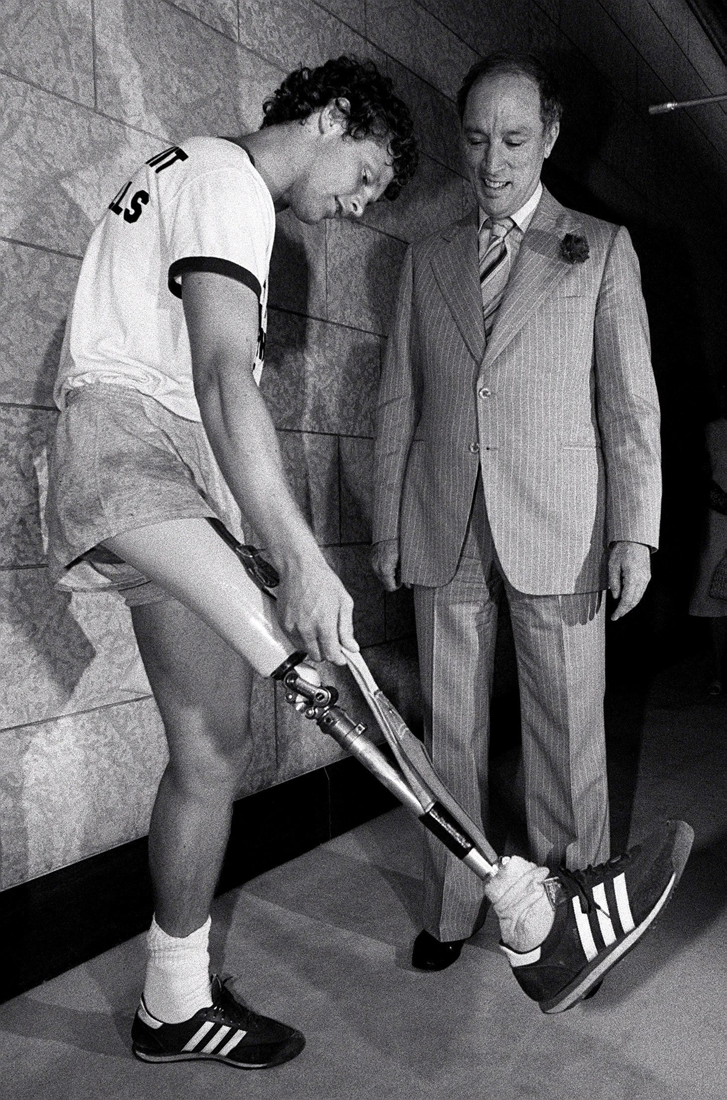 Terry Fox with Prime Minister Pierre Trudeau