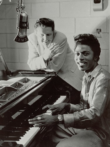 Red Robinson et Little Richard, 1957.
