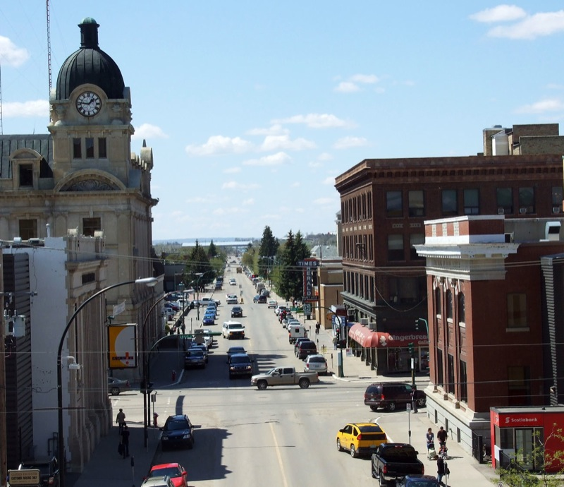 Downtown Moose Jaw, Saskatchewan