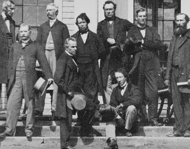Delegates of the Charlottetown Conference, Prince Edward Island, 1864.