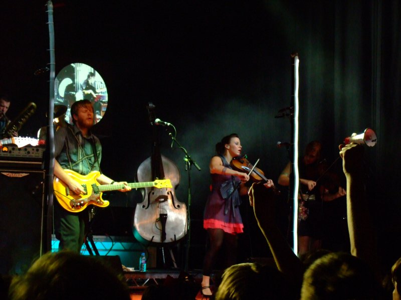 Arcade Fire performing in Berlin, Germany in 2007.